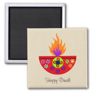 Colorful Diwali Lamp Diya Magnet