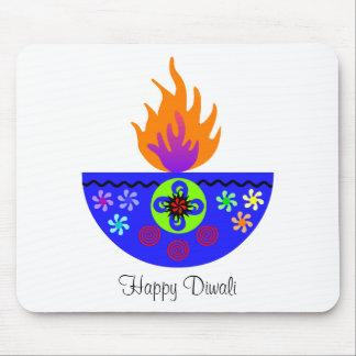 Colorful Diwali Lamp Diya Mouse Pad