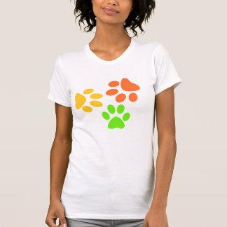 Colorful Dog Paw Prints T-Shirt