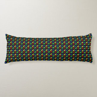 Colorful dogs pattern body pillow