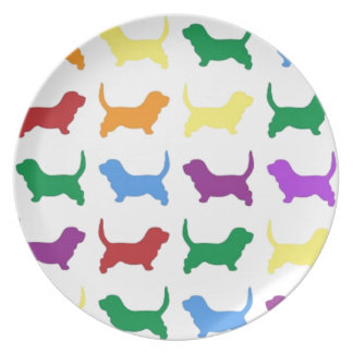 Colorful Dogs Plate