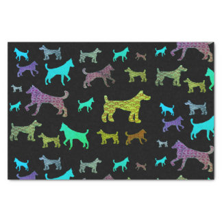 Colorful Dogs Tissue Paper