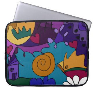 Colorful Doodle Art Fun Unique Laptop Sleeve