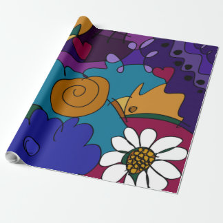 Colorful Doodle Sketches Wrapping Paper