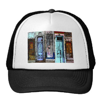 Colorful Doors Collage Trucker Hat