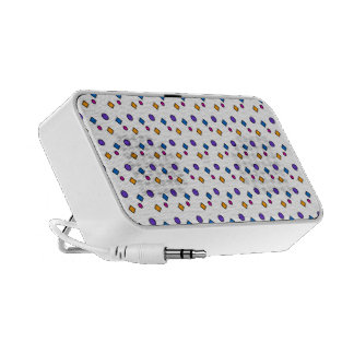 Colorful dots and squares PC speakers