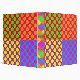Colorful Dots Binder