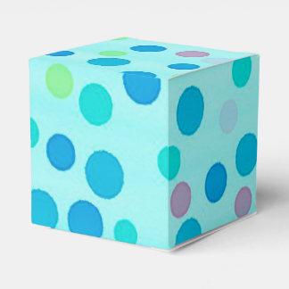 Colorful dots blue wedding favor boxes