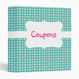 Colorful Dots Coupon organizer Vinyl Binders