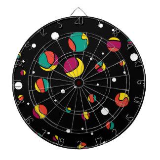 Colorful dots dartboards