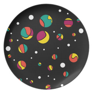 Colorful dots dinner plates