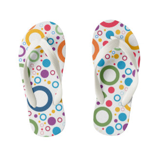 colorful dots Flip Flops