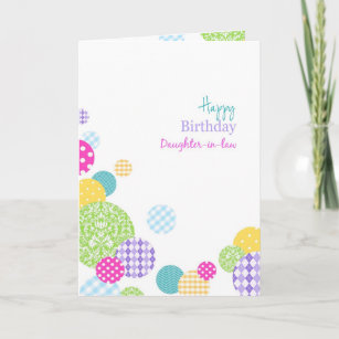 Colorful Dots Happy Birthday Daughter In Law Card