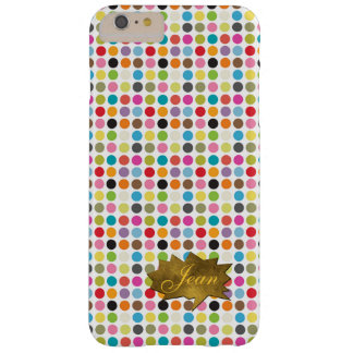 Colorful Dots iPhone 6 Plus Custom Monogram Case
