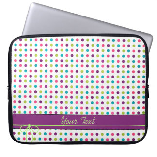 Colorful Dots Laptop Computer Sleeves