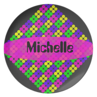 Colorful Dots Personalized Name Plate