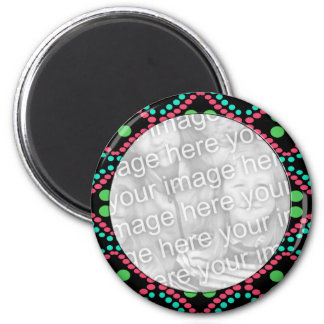 colorful dots photo frame magnet