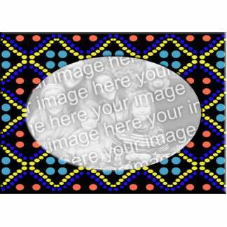 colorful dots photo frame photo cut outs