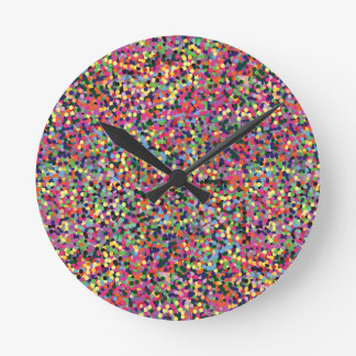 Colorful Dots Round Clock