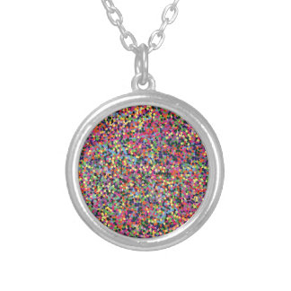 Colorful Dots Silver Plated Necklace