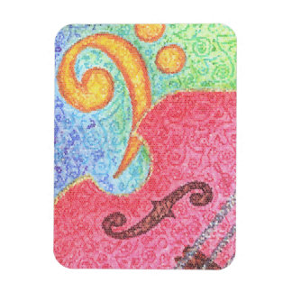 Colorful Double Bass and Clef - Magnet