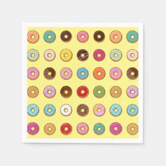 Colorful Doughnuts Disposable Napkins