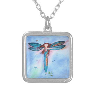 Colorful Dragon Fairy doodle necklace