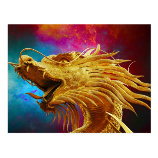 Colorful Dragon Postcard