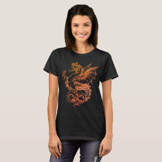 colorful Dragon Red Illustration Women T-Shirt