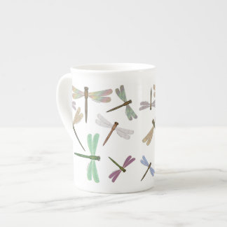 Colorful Dragonflies Bone China Mug