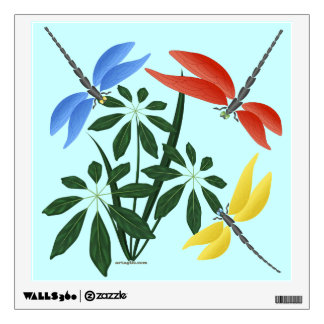 Colorful Dragonflies, wall art, girl's room, Wall Decal