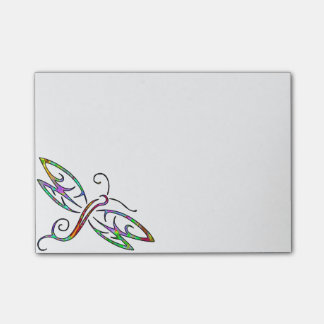 colorful dragonfly post-it notes