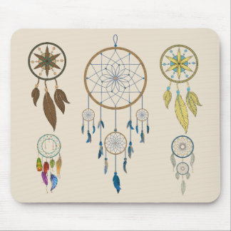 Colorful Dream catchers Mouse Pad