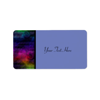 Colorful Dreamy Abstract Label