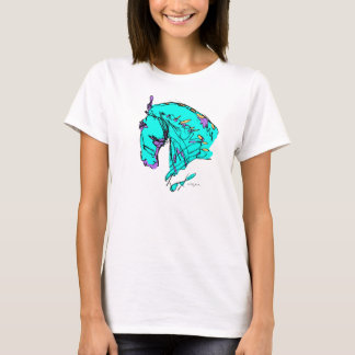 Colorful Dressage Horse Tee