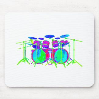 Colorful Drum Kit Mousepads