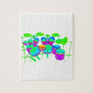 Colorful Drum Kit Puzzles
