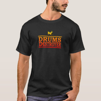 Colorful Drums Destroyer T-Shirt