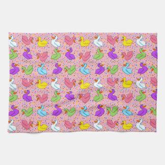Colorful Ducks Kitchen Towel