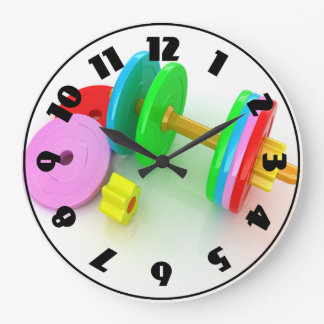 Colorful Dumbbells Clock