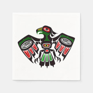 Colorful Eagle Symbol Napkin