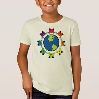 colorful EARTH DAY organic t-shirt