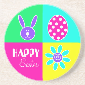 Colorful Easter Coaster