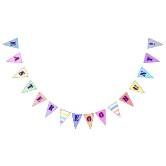 Colorful Easter Egg Hunt Pennant Bunting Flags