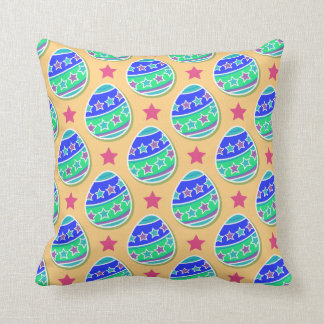 Colorful Easter Egg Throw Pillow