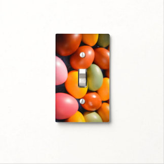 Colorful Easter Eggs Custom Photo Light Switch Cover