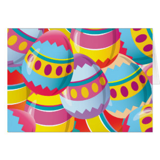 Colorful Easter Eggs - Fiesta Colors Greeting Cards