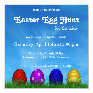Colorful Easter Eggs - Invitation