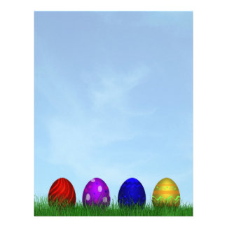 Colorful Easter Eggs - Letterhead Stationery