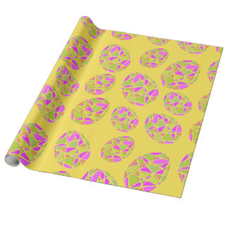 Colorful Easter Eggs Mosaic Wrapping Paper